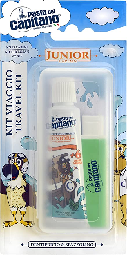 PASTA DEL CAPITANO Kit de viaje junior: Amazon.es: Salud y cuidado personal