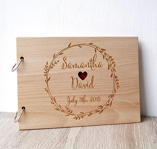 Wooden Wedding Album: Ideal Personalized Wood Photo Album @AE51