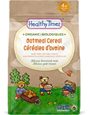 Healthy Times Organic Whole Grain Baby Cereal, Oatmeal | Baby Food for Babies 4 Months & Older | 142 g Bag, 1 Count