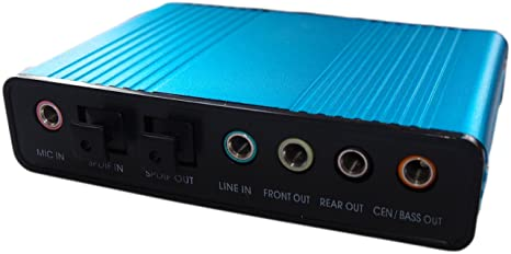 eyeCam - Tarjeta de sonido externa 5.1 (USB, 6 canales ...