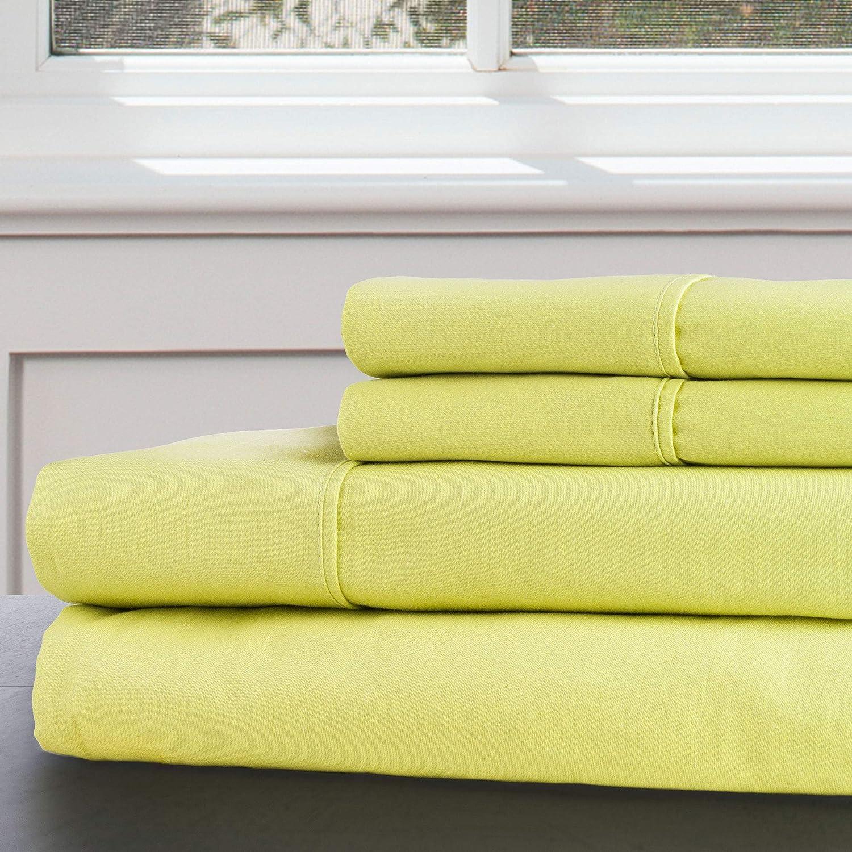 Lavish Home 100% 300 Thread Count Egyptian Cotton Sheet Set, King, Green