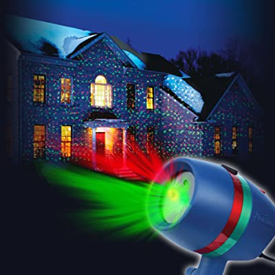 Star Shower Motion Laser Light by BulbHead - Indoor Outdoor Laser Light for Hassle-Free Holiday Decorating – Sparking or Still Red and Green Laser Lights Cover up to 3200 Square Feet : Garden & Outdoor