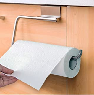 Good Chrome Paper Towel Holder Over Cabinet Door Soft Sponge Wonu0027t Scratch Your  Cabinet Door