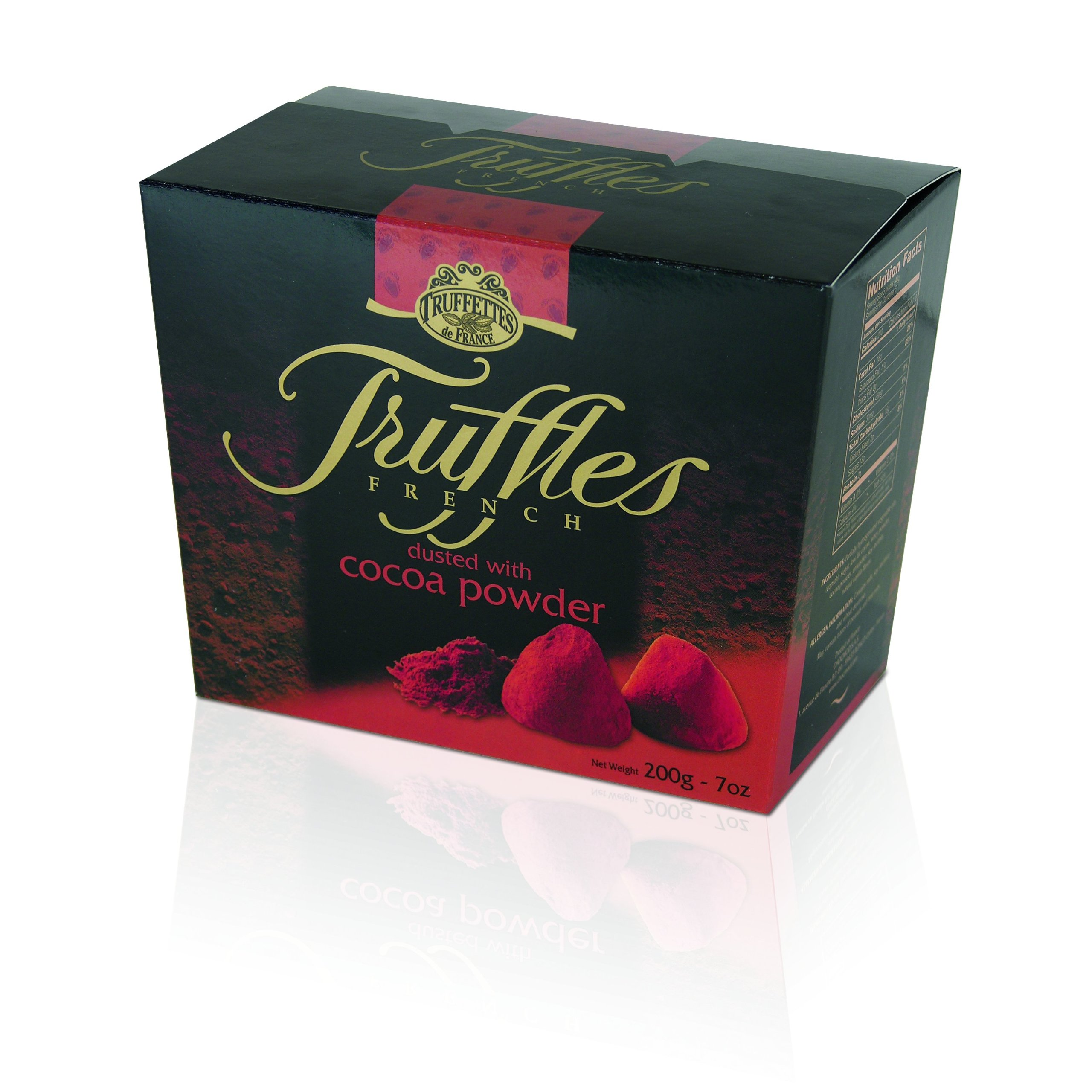 Chocmod Truffettes de France Natural Truffles Dusted with Cocoa Powder, 200 Gram Boxes (Pack of 12)
