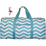 21 in Print Duffle, Overnight, Carry on Bag with Outside Pocket and Shoulder Strap
