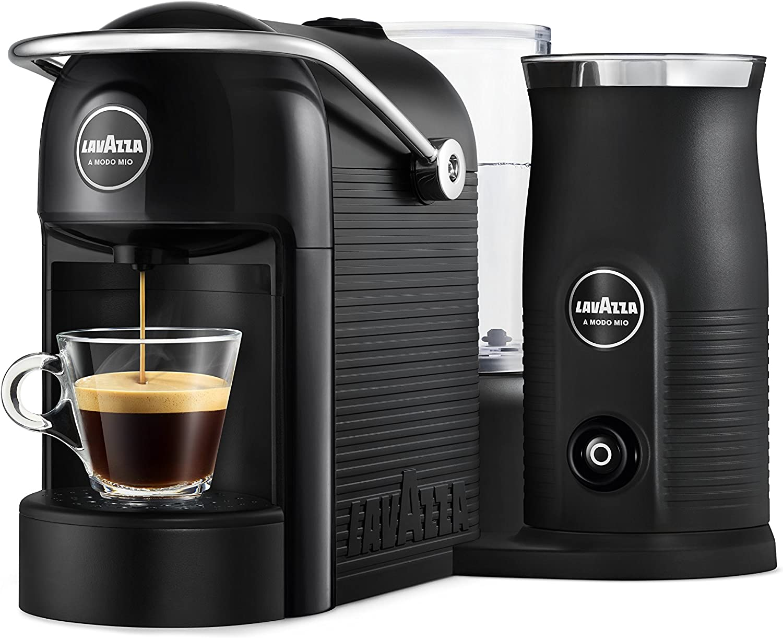 Lavazza A Modo Mio - Jolie & Milk - Cafetera con espumador de Leche Negro: Amazon.es: Hogar