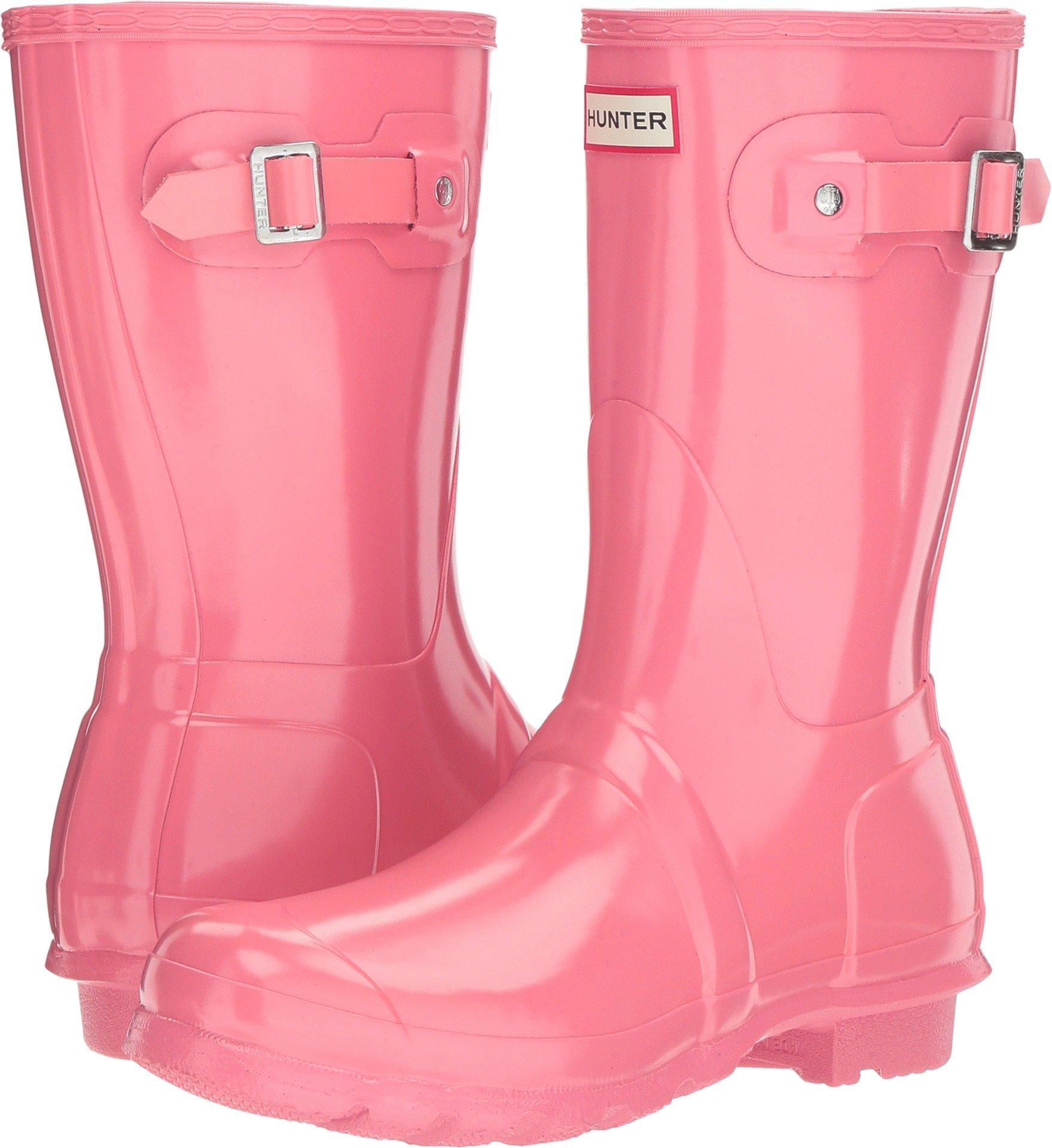 Hunter Women's Original Short Gloss Pink Rain Boots - 8 B(M) US