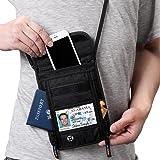 【スキミング防止素材】 Defway パスポートケース 首下げ パスポートバッグ 海外旅行グッズ 航空券 携帯 貴重品入れ (メーカー一年保証) ◎両側ファスナー型:八ポケット/20x17㎝ ◎単ファスナー型:七ポケット/20x15.5㎝