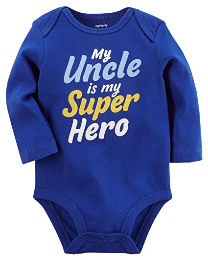 8a2736908 Amazon.com  Carter s Baby Boys  My Uncle Is My Super Hero ...