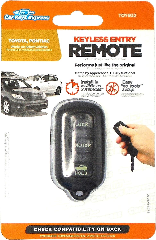 2 For 2003 2004 2005 2006 Toyota Celica Echo Non OEM Keyless Remote Car Key Fob