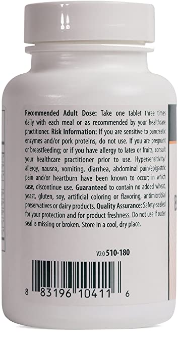 Amazon.com: Genestra Brands - Bromelain Papain + - Multi Enzymatic Formulation in Tablet Format - 180 Tablets: Health & Personal Care