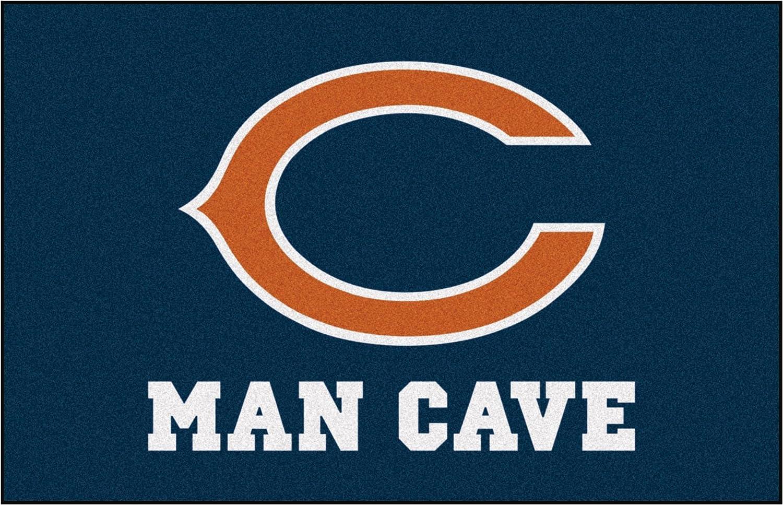 "FANMATS 14281 NFL Chicago Bears Nylon Universal Man Cave Starter Rug,Team Color,19""x30"""