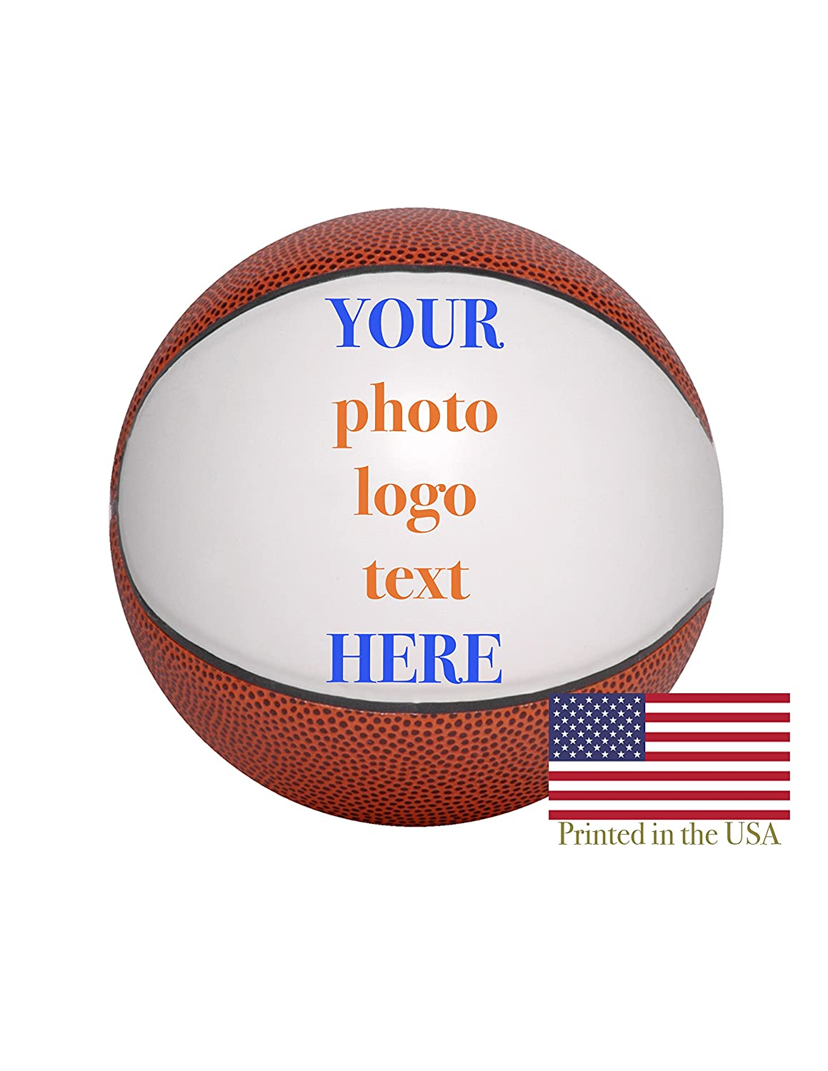 Custom Personalized Basketball - 9 Inch Basketball - Ships Next Day, High Resolution Photos, Logos & Text on Basketball Balls - for Trophies, Personalized Gifts Ballstars