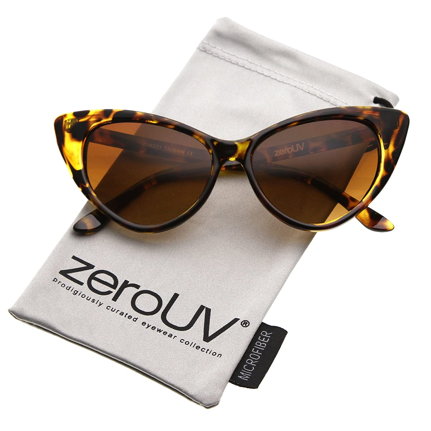 78ff0f2c9b zeroUV - Women s Retro Oversized High Point Cat Eye Sunglasses 54mm ...