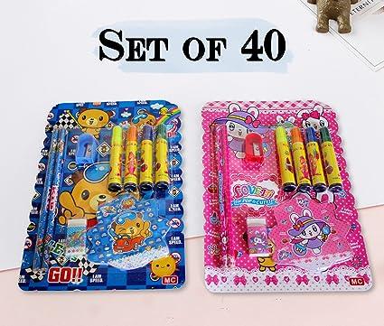 TIED RIBBONS Kids Birthday Party Return Gift Sets For Boys Girls Stationary SetSet