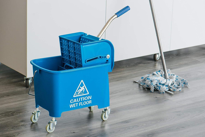 Elite Kentucky mop Secchio e strizzatore Heavy Duty Blu