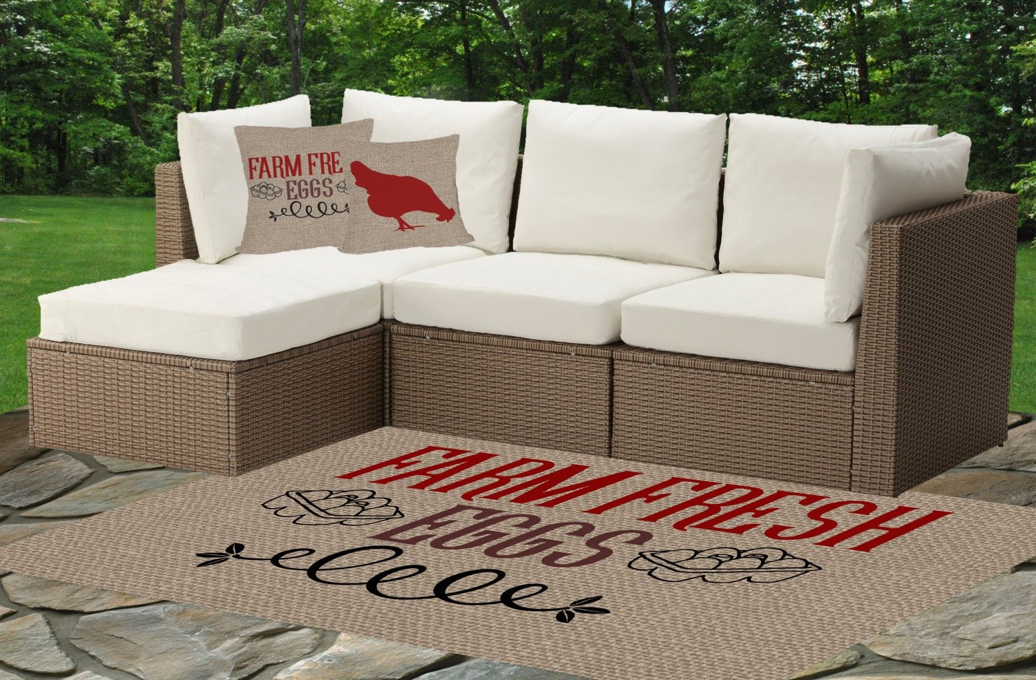 Amazon.com: RNK Shops Farm Quotes Indoor/Outdoor Rug - 6x9 (Personalized): Kitchen & Dining