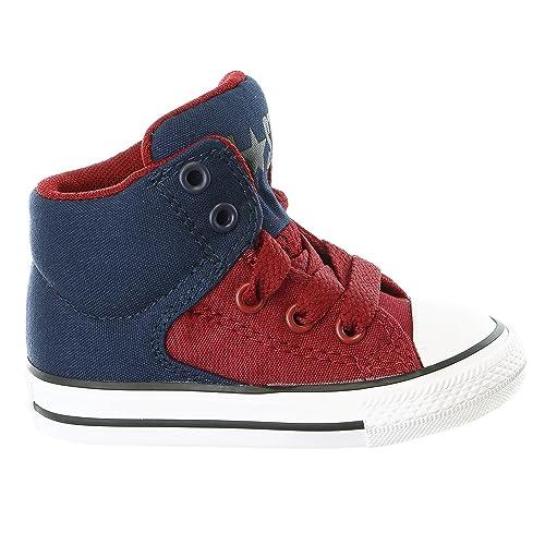 a2678e7ed5de26 Converse Infant Chuck Taylor All Star High Street Hi Fashion Sneaker -  Obsidian Red