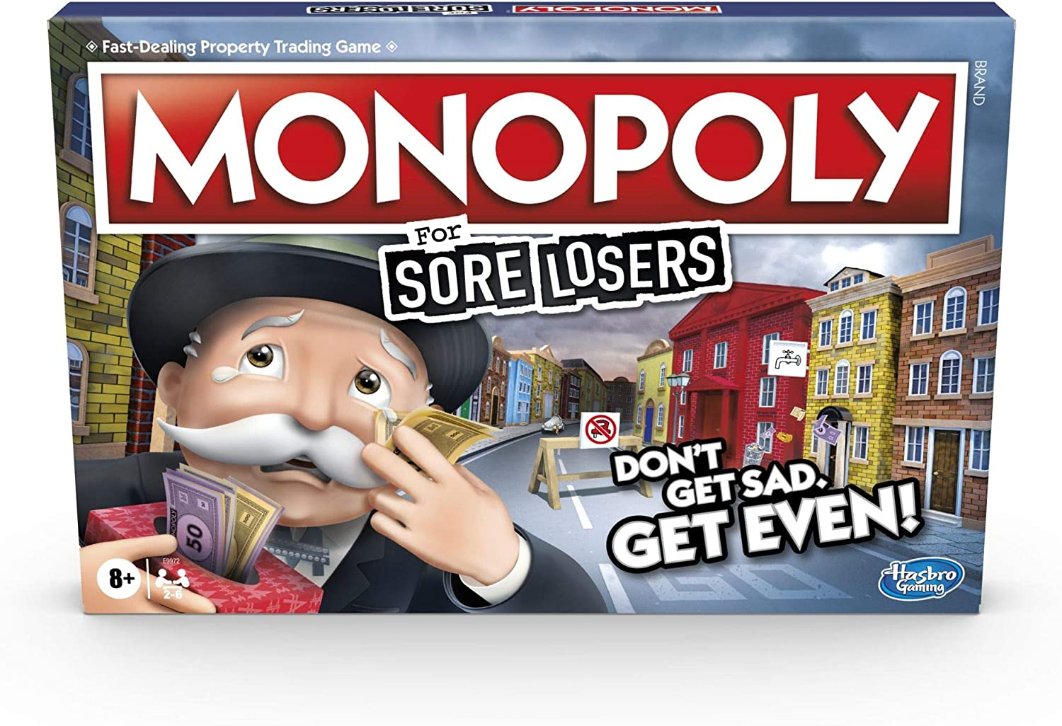 Hasbro Gaming Monopoly for Sore Losers Board Game for Ages 8 and Up, The Game Where it Pays to Lose