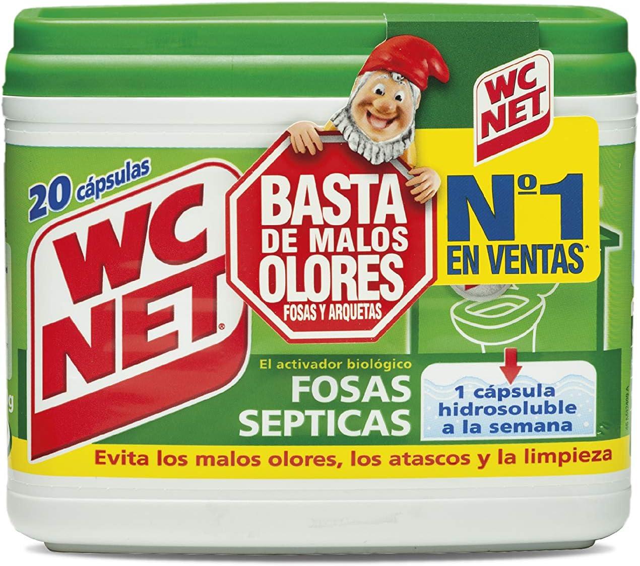 Wc Net Fosa Septica, 20 Capsulas x 18g, Multicolor