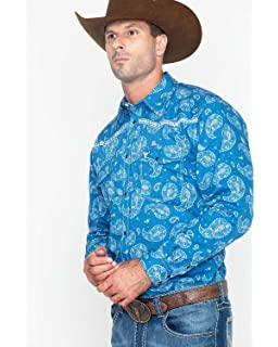 dafc331d1a2 Cowboy Hardware Men s Paisley and Diamond Stitched Long Sleeve Shirt ...
