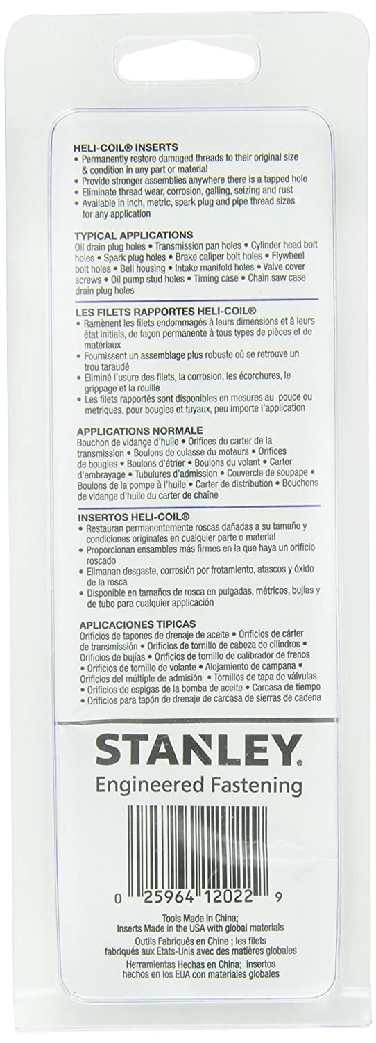 Amazon.com : OKSLO Helicoil 5544-12 12-1.5 Metric Fine Kit : Garden & Outdoor