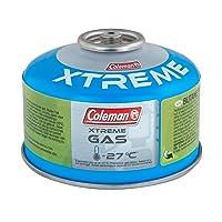 Coleman Gaskartusche C100 Xtreme Ventil Gas Kartusche für Campingkocher Gaskartusche mit Schraubventil Butan-Propan Mischung Füllgewicht 100 g für den Einsatz bei extremen Temperaturen bis -27C