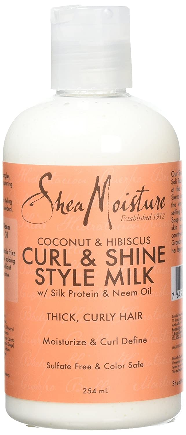Shea Moisture Coconut and Hibiscus Curl and Style Milk, 254 ml Sundial BrandsLLC SD21050
