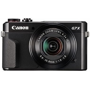 Canon PowerShot Digital Camera [G7 X Mark II] with Wi-Fi & NFC, LCD Screen, and 1-inch Sensor - Black