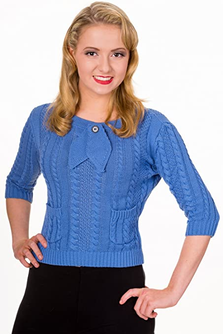 1930s Style Sweaters | Vintage Sweaters Banned Apparel - Slippery Slope Top $45.49 AT vintagedancer.com