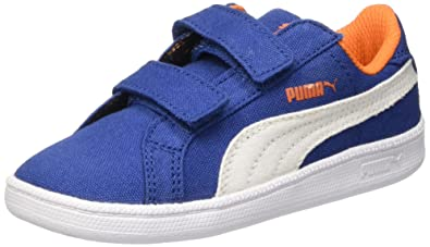 0b65325ede90 Puma Unisex Kids  Smash Fun Cv V Insoles Blue Size  4 Child UK ...