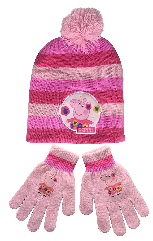 Peppa Pig Hat & Gloves Set by Jujak