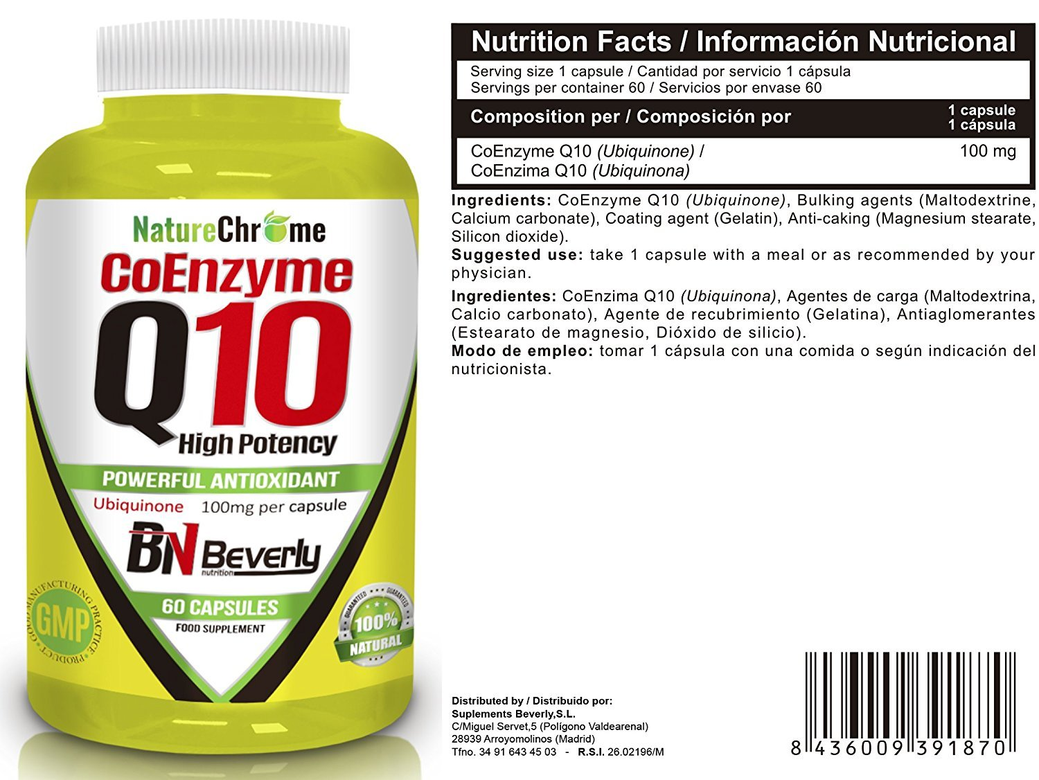 Amazon.com: Beverly Nutrition Exclusive For Absat40 Coenzyme Q10 - Improve Sports Performance - Provides Strong Antioxidant & Support Immune System ...