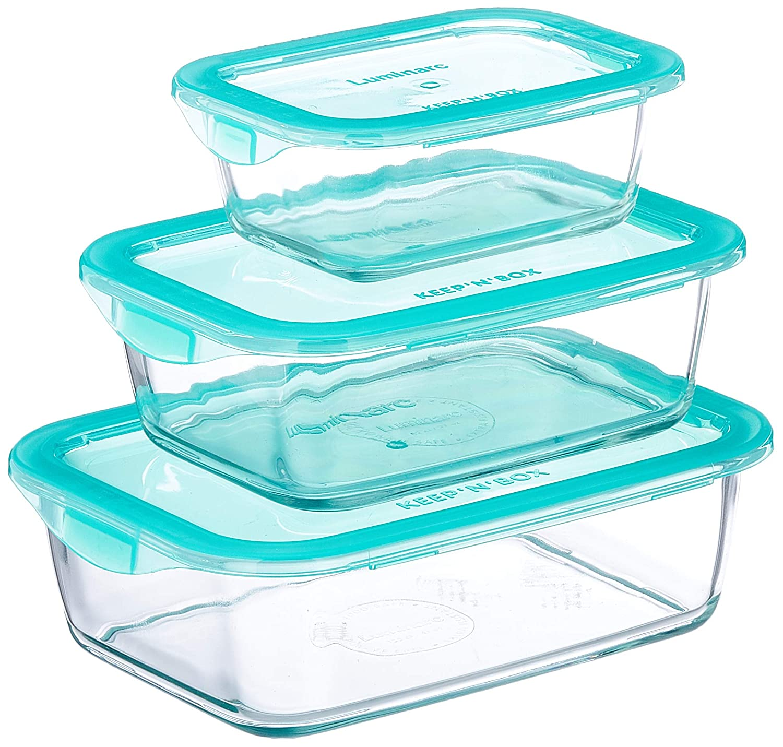 Luminarc KeepnBox - Pack de 3 recipientes de vidrio ...
