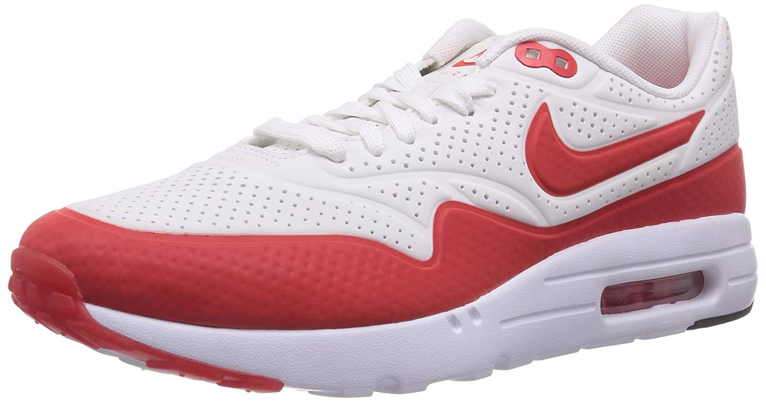 separation shoes bac23 f8820 Nike Men s Air Max 1 Ultra Moire Running Shoe White   Red 10 D(M) US  Buy  Online at Low Prices in India - Amazon.in