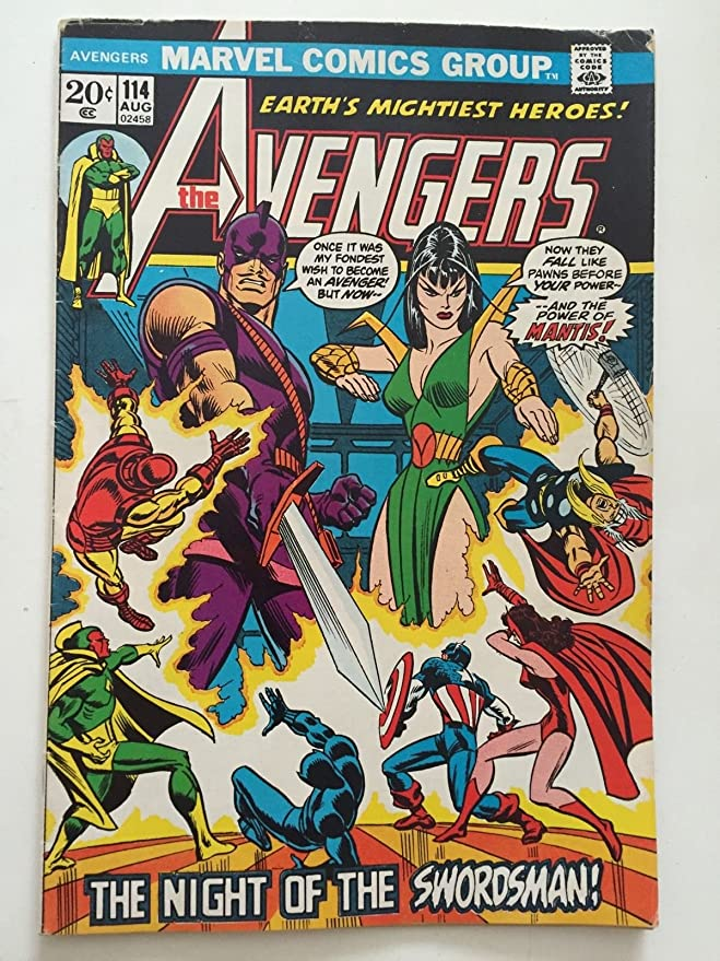 Amazon The Avengers 114 Marvel Comic Book 1st Mantis Cover VG Entertainment Collectibles