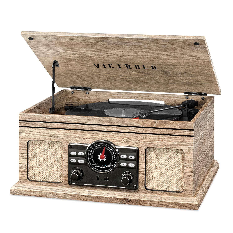 Victrola 4 en 1 Nostálgico Bluetooth Record Player con 3 ...