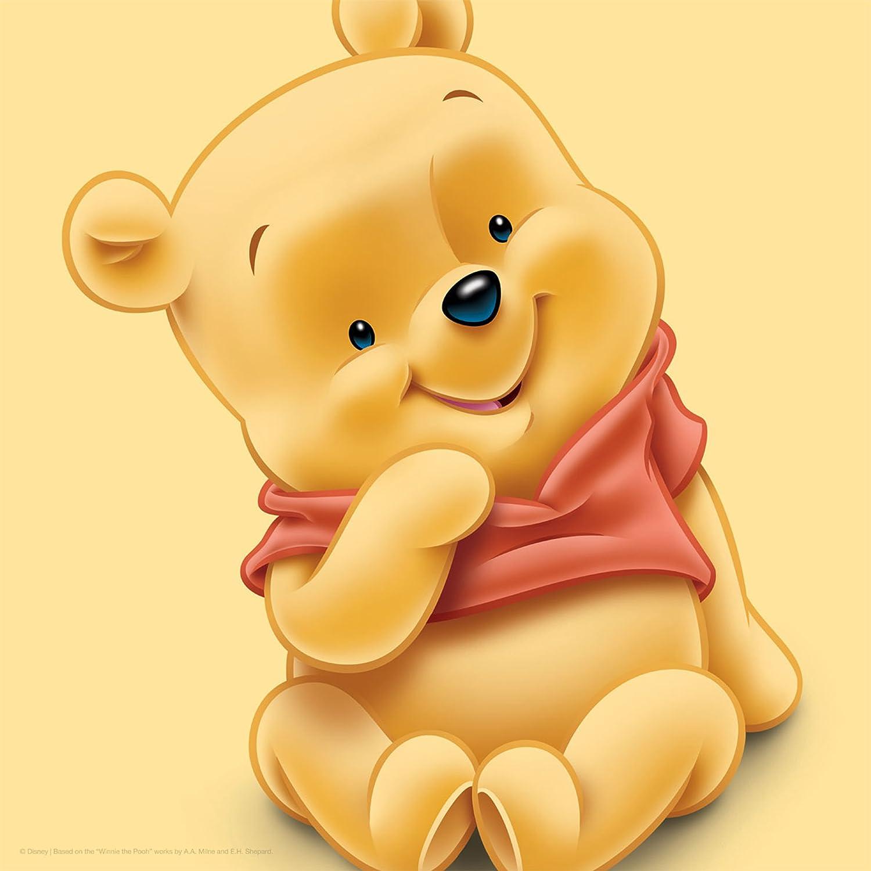 Disney Baby Winnie The Pooh 35 x 35 cm Canvas Wall Art: Amazon.co.uk ...