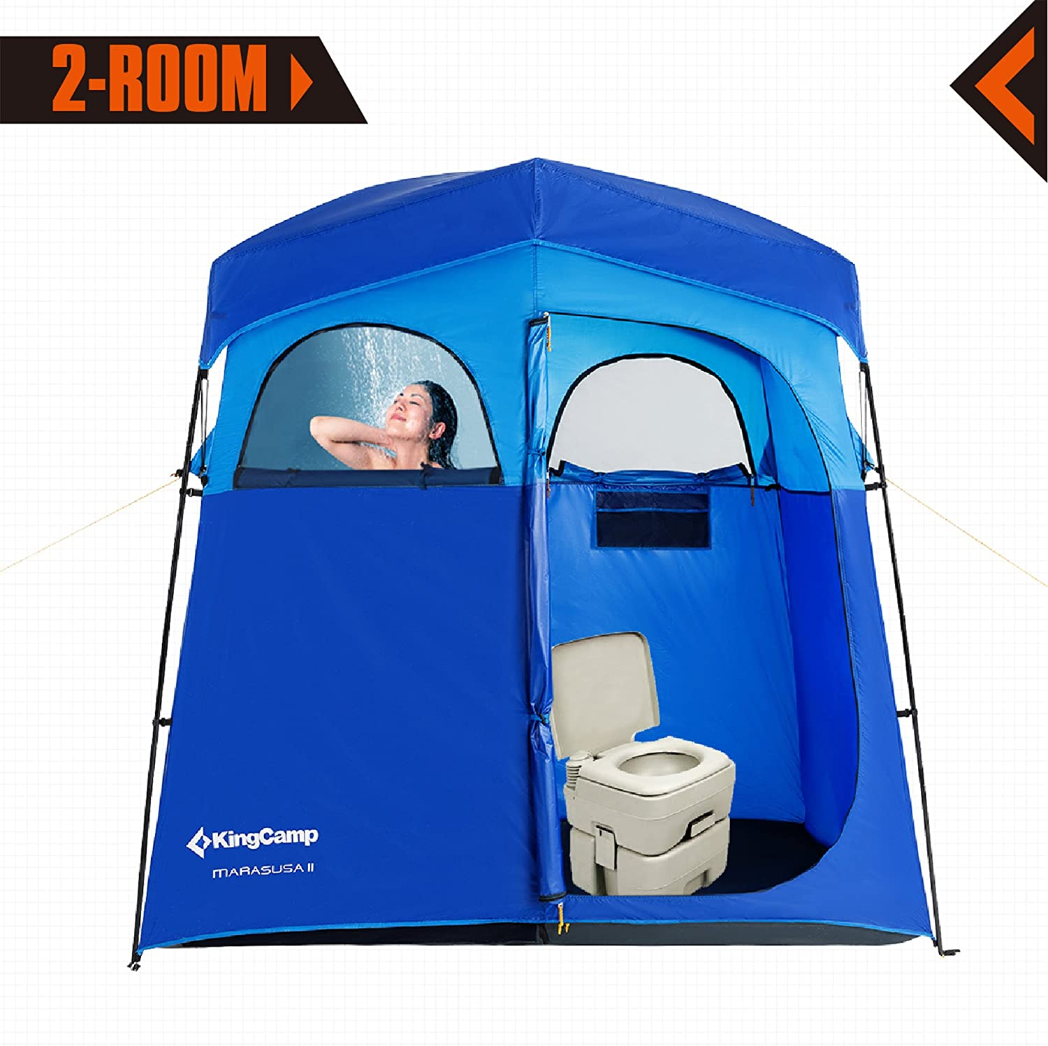 KingCamp 2 Room Non Instant Easy Up Portable Dressing
