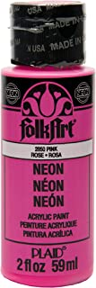product image for FolkArt Neon Acrylic Paint in Assorted Colors (2 Ounce), 2850 Neon Pink