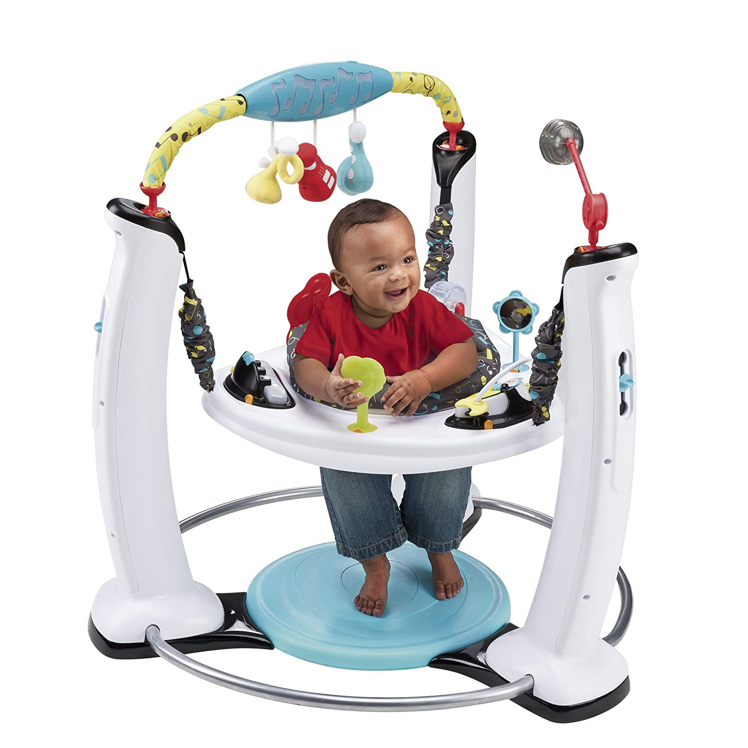 Babies love door and standing jumper toys that allow them to bounce up and down in the air, getting a little exercise and having fun. There are some of the favorite door and standing jumpers from Babylist.
