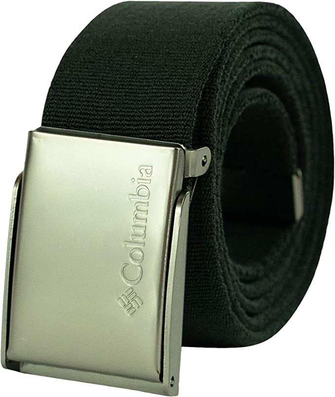 Military Cotton Web Belt with Metal Adjustable Buckle BLACK