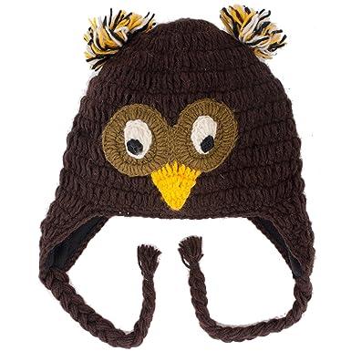 Waldkauz Brown Owl Häkeln Nepal Tier Hut: Amazon.de: Bekleidung