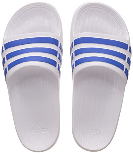 new concept 34f1e 7800c Adidas Boys Duramo Slide K Ftwwht, Blue and Blue Flip-Flops and House  Slippers