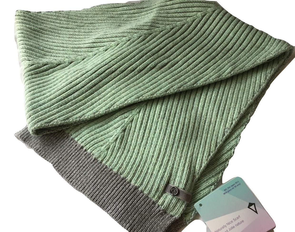Lululemon Ivivva Natually Nice Scarf -Super Fun Green w/Shimmering at the end
