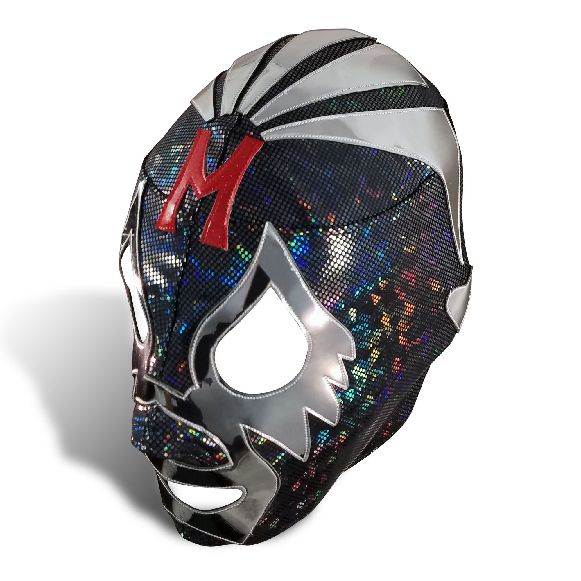 Mil Mascaras Mexican Wrestling Mask - Black Lycra- Adult Size by Airsoft-Max