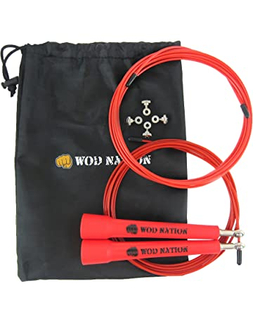 WOD Nation Speed Jump Rope - Blazing Fast Jumping Ropes - Endurance Workout for Boxing,