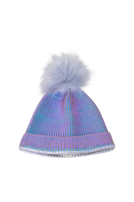 Warm Winter Hat Mountain Warehouse Metallic Kids Pom Pom Beanie