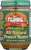TEDDIE PEANUT BUTTER Unsalted Peanut Butter, 16 OZ
