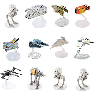 Star Wars (12-Pack) Spaceships Models Toys Action Figure Set & Stands
